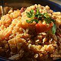 Lentilles corail express à la pancetta