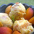 Glace aux abricots, romarin et mascarpone.