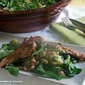 Salade haricots & poulet
