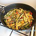 Wok de légumes au gingembre