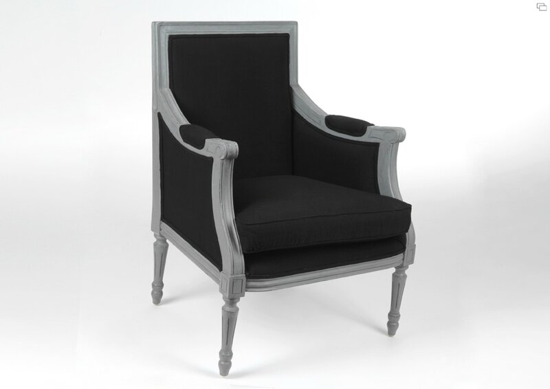 fauteuil gris meubles et d coration amadeus au grenier de juliette. Black Bedroom Furniture Sets. Home Design Ideas