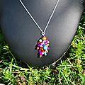 collier bling bling coloré proposition pour Armelle 18 euros
