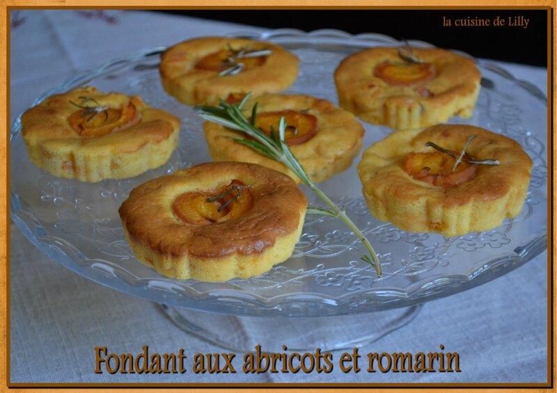 fondant aux abricots et romarin