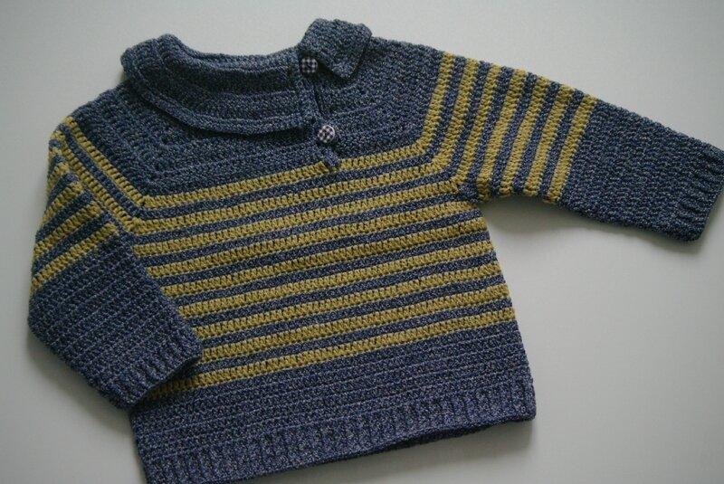 crocheter un pull marin garçon