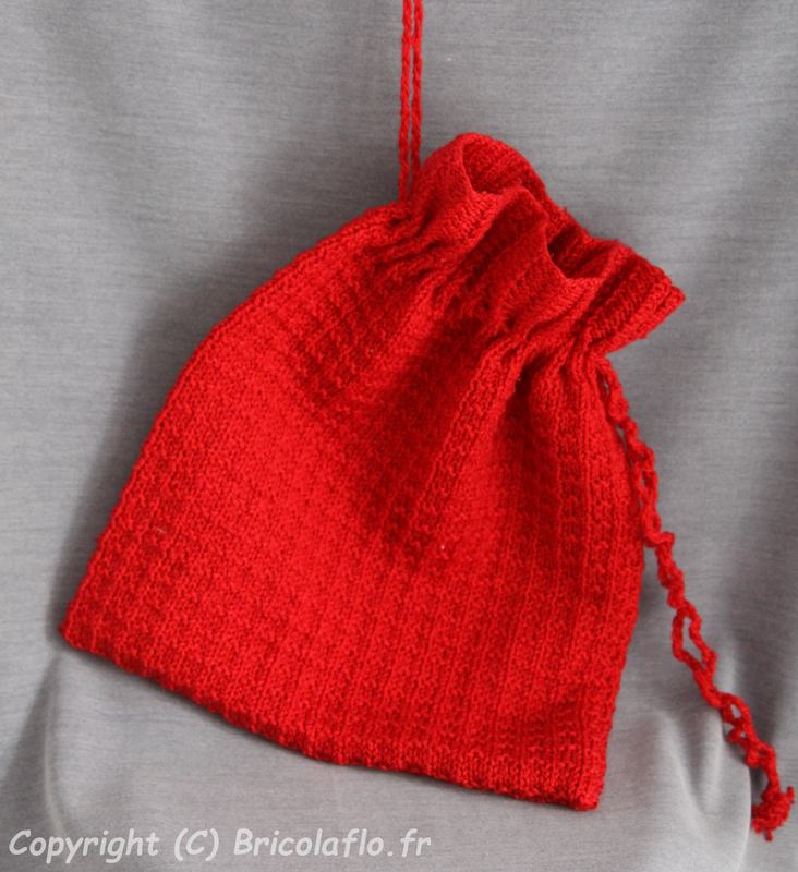 sac tricot rouge a