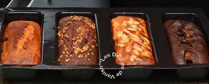 cake coco, cake nutella, cake pomme cannelle, cake chocolat