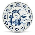 A blue and white Kosometsuke dish, Tianqi mark and period (1621-1627)