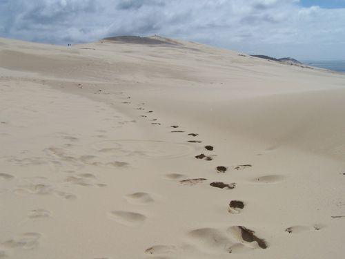 Dune du Pyla-empreintes