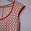 robe à cercles oranges