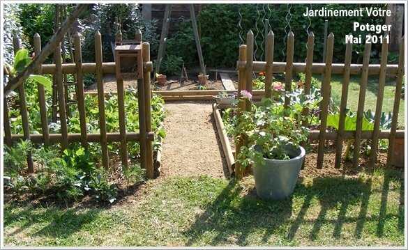 Id e am nagement jardin potager for Amenagement potager idees