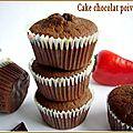 Gâteau chocolat poivron