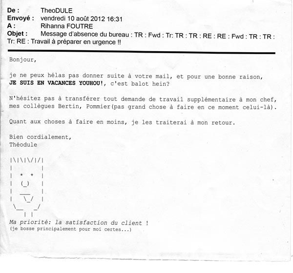 message d 39 absence du bureau notes de bureau le blog