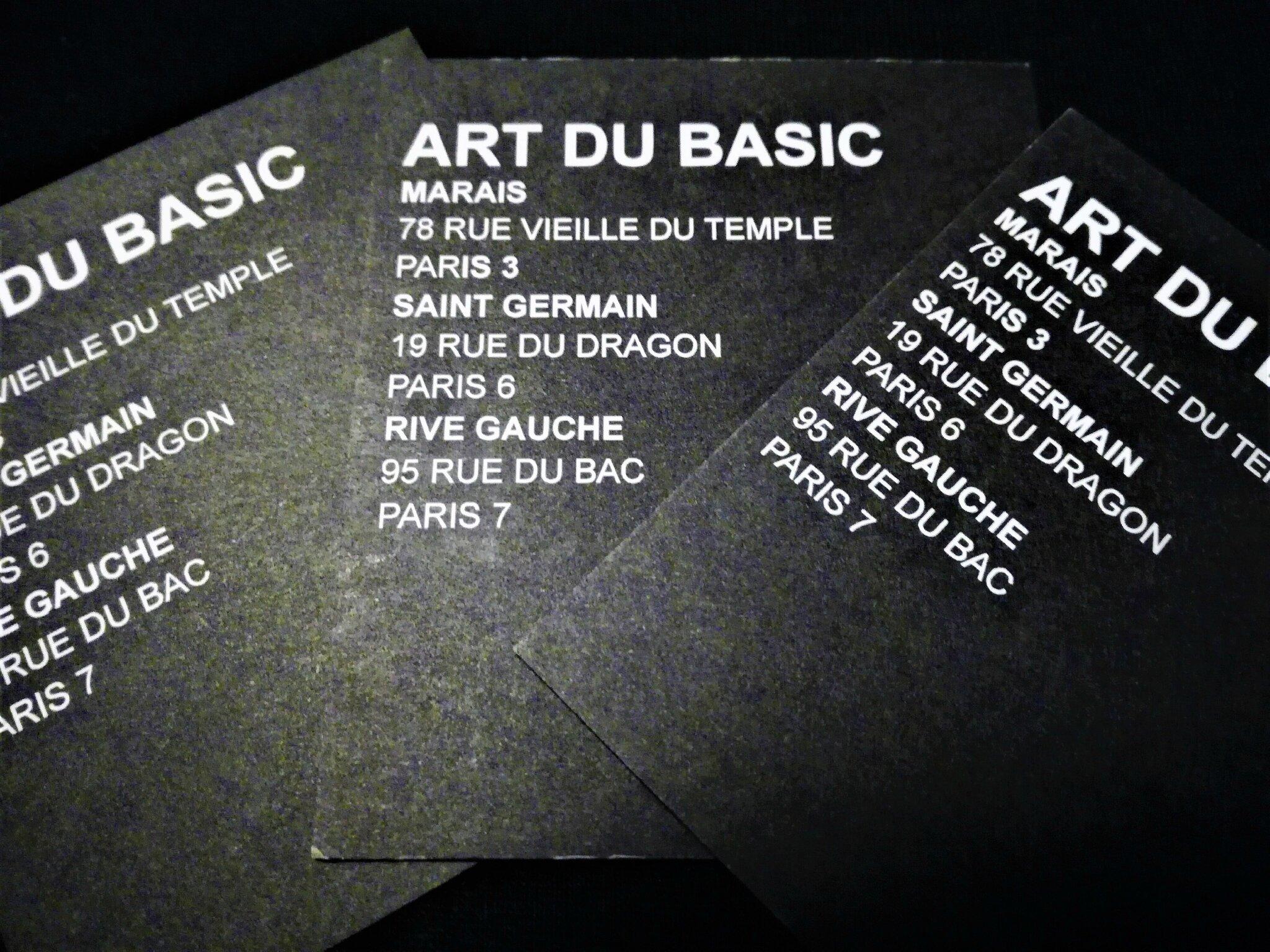 L'ART DU BASIC : Le basic c'est CHIC !!