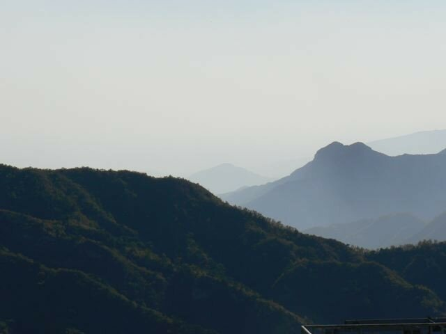 Vue des montagnes de la Murailles de Chine