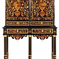 Exceptionnel cabinet. Attribu  Pierre Gole (1620-1685). poque Louis XIV