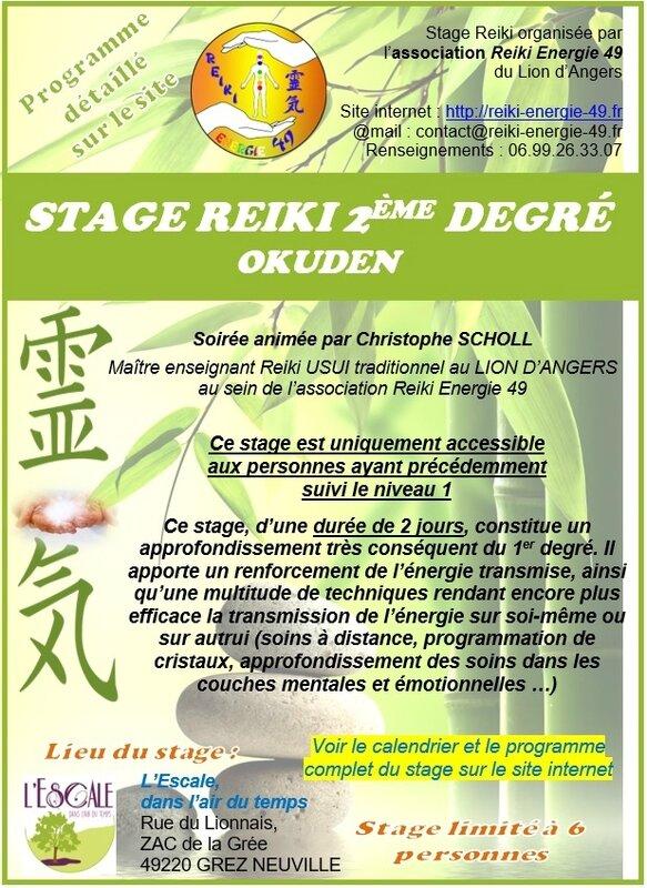 Affiche Stage Reiki 2ème degré