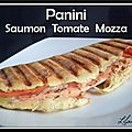 Panini saumon tomate mozza (maison)...