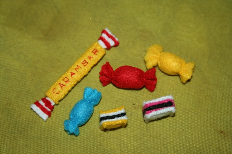 Bonbons (règlisse, bonbons et carambar)