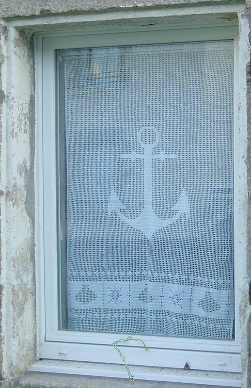 rideaux au crochet motif marin