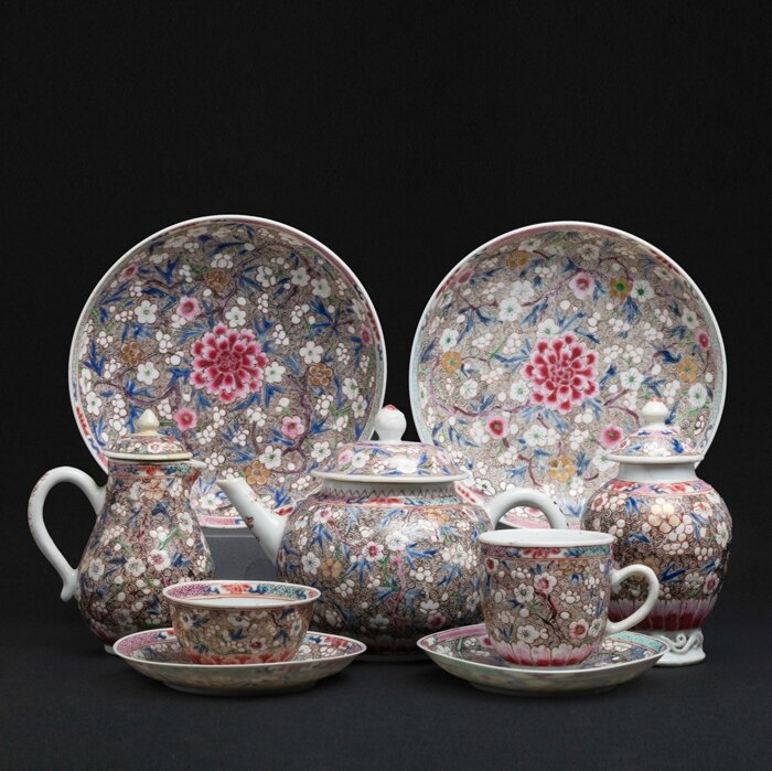 Part tea and coffee service, China, Yongzheng period