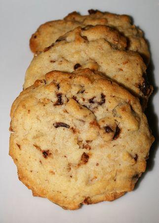 cookies aux noix, noix de pécan et chocolat