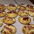Tartelettes poireaux bacon