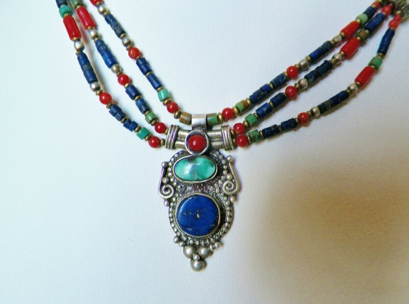 Collier Lapis Afghan 002