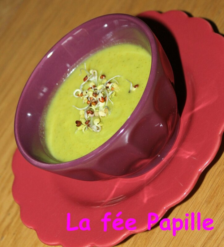 velouté froid courgettes curry