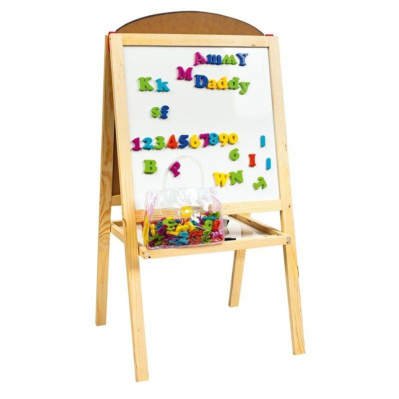 Le tableau double face pour enfant livres et autres - Tableau enfant bois ...