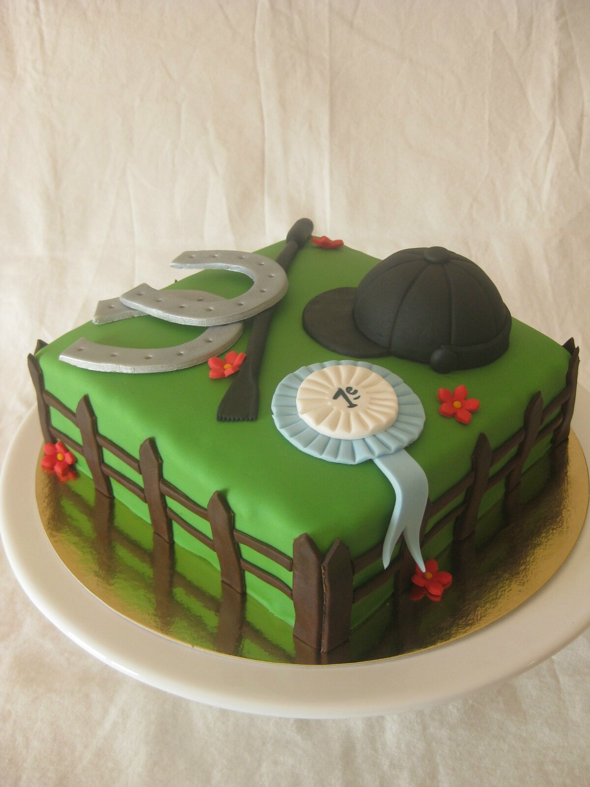 gateau decor equitation