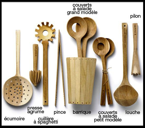 Ustensiles de cuisine en bois d 39 acacia fair cutlery design de collection le blog de moon - Ustensiles de cuisine design ...