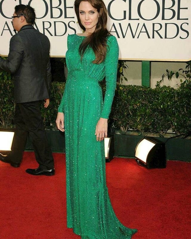 Shining-Long-Sequined-Green-Celebrity-font-b-Dresses-b-font-2016-font-b-Angelina-b-font