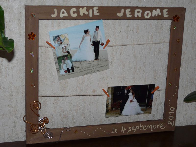 cadre mariage photo de notre mariage orange chocolat et beige une image de la. Black Bedroom Furniture Sets. Home Design Ideas