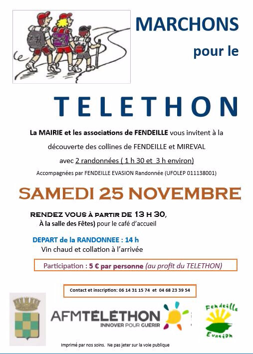 TELETHON FENDEILLE 25 nov 17