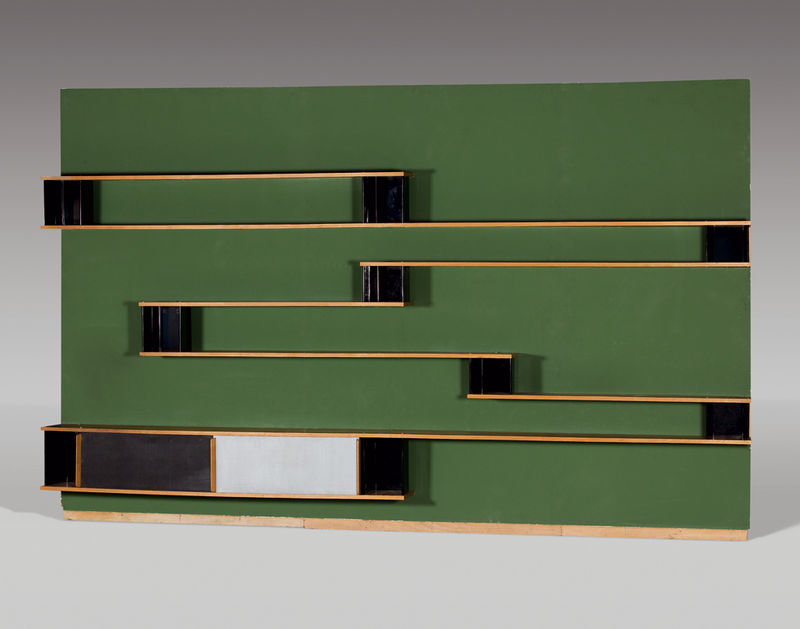 Biblioth que de charlotte perriand aux ench res drouot sleekdesign - Meuble charlotte perriand ...