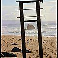 Biarritz : roche et barre de fer
