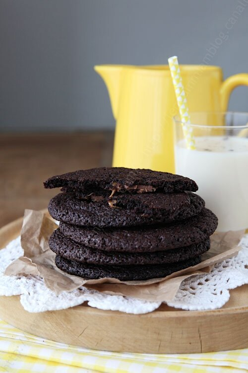 Cookies extra chocolat coeur caramel et sa version icecream sandwiches