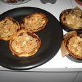 Dessert: crumble au nutella.