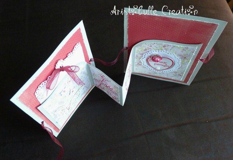 Carte mariage romantique porte-chèque - dessus