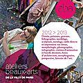 Info express :les inscription aux ateliers des beaux arts, c'est maintenant