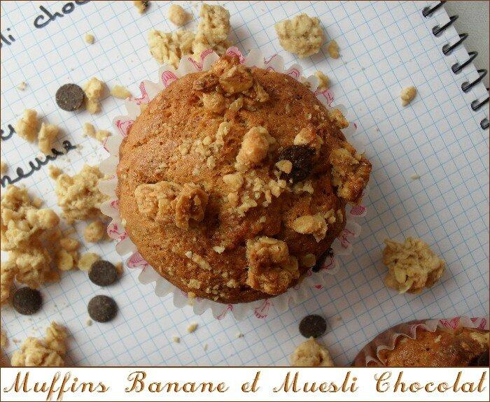 Muffins banane - muesli chocolat 1