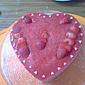 bavarois aux fraises avec chantilly au chocolat blanc