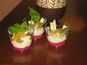 verrine de betterave et yaourt crudités (2)