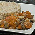 Blanquette de dinde et son riz bio