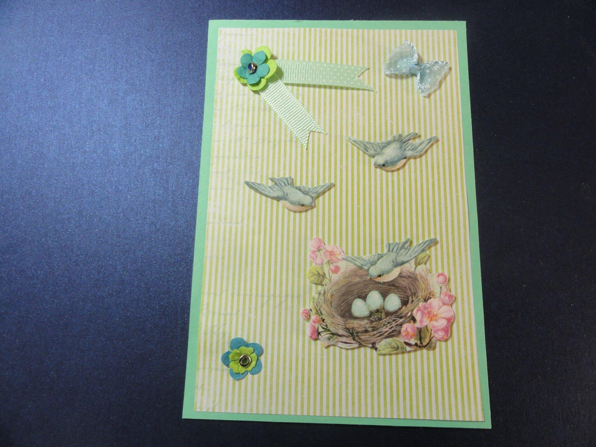 cartes roses et vert shabby 004