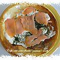 Crêpe salée crème fraîche - saumon - aneth