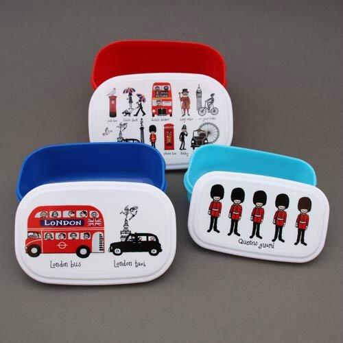 Le lot de 3 boites à goûter ou déjeuner sans BPA Londres Tyrrell Katz pour enfants