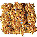 Gold fitting in form of eighteen dragons. eastern zhou dynasty, spring and autumn period, 6th or 5th ct. bc