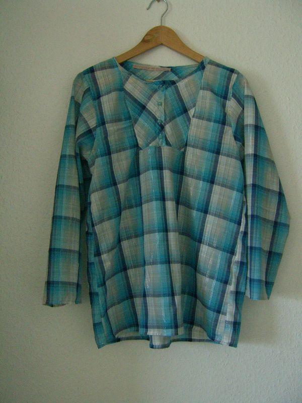 madras bleu fils scintillants (épuisé)