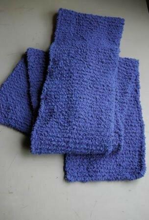 Une longue écharpe bleue pour ma maman